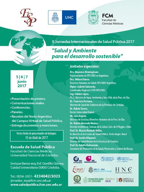 X Jornadas Internacionales de Salud Pública 2017