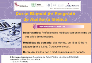 Curso Bianual de Postgrado de Auditoría Médica
