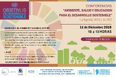 Conferencia: Ambiente, Salud y Educación para el Desarrollo Sostenible